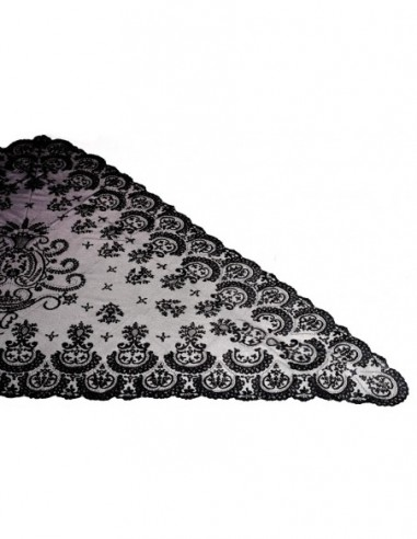 Mantilla Doble Blonda M Pico