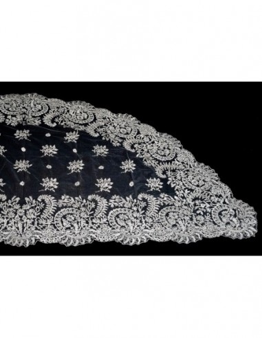 Mantilla de media luna